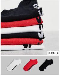 DIESEL Набор Из 3 Пар Черных/красных/белых Носков -разноцветный - Многоцветный