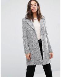 Oasis Boucle Coat - Grey