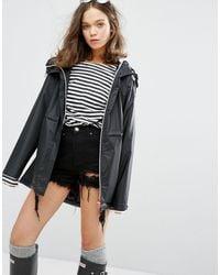 HUNTER Womens Original Raincoat - Black