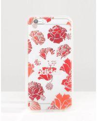 adidas Originals - Originals Translucent Iphone 6/6s Case In Floral Print - Multicolour - Lyst