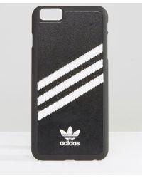 adidas Originals - Originals 3 Stripe Iphone 6 Plus Case In Black And White - Black/white - Lyst