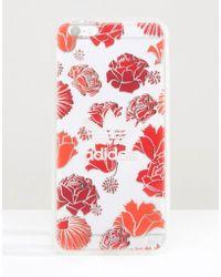 adidas Originals - Originals Translucent Iphone 6 Plus In Floral Print - Bohemian Red - Lyst