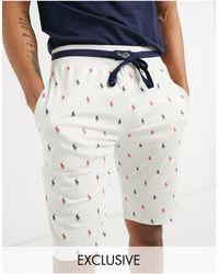 Polo Ralph Lauren X ASOS - Collaboration exclusive - Short décontracté avec logo sur l'ensemble - Multicolore