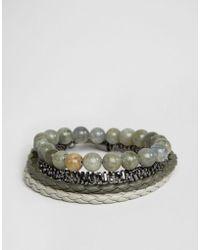 ALDO - Khaki Bracelets In 4 Pack - Lyst