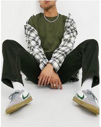 Stan Ray Pantalon fuselé en velours côtelé - Olive - Vert