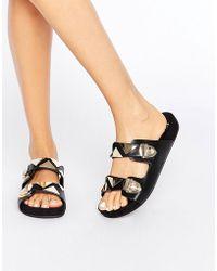 E8 - Natalie Slider Flat Sandals - Lyst
