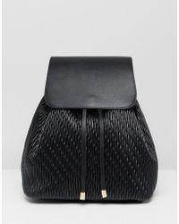 ASOS Duffle Backpack In Quilt - Black