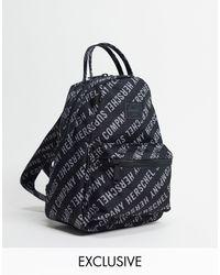 Herschel Supply Co. Эксклюзивный Черный Рюкзак Небольшого Размера Со Сплошным Принтом Из Логотипов Exclusive Nova