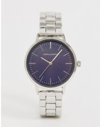 ASOS - Skinny Bracelet Watch In Silver - Lyst