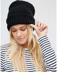 Warehouse - Ribbed Beanie Hat - Lyst