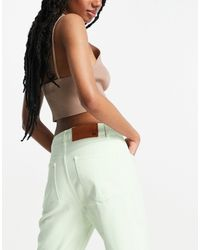 Reclaimed (vintage) Inspired The '86 Super Wide Leg Flare Jeans - Green