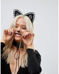 River Island - Halloween Lace Cat Ears - Lyst