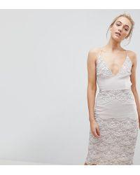 ASOS - Delicate Placement Lace Cami Midi Pencil Dress - Lyst