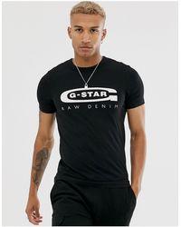 G-Star RAW Graphic Logo 4 T-Shirt - Nero