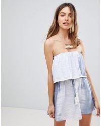 Surf Gypsy - Tie Dye Tassel Beach Dress - Lyst