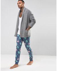 ASOS - Skinny Pyjama Bottoms With Flamingo Print - Lyst