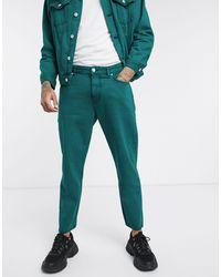 Pull&Bear Regular-fit Jeans Met Acid Wash - Groen
