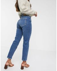Vero Moda Organic Cotton Straight Leg Jeans - Blue