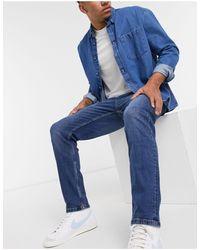 Bershka Straight Fit Jeans - Blue