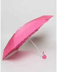Lulu Guinness - Tiny Inside Lips Print Umbrella - Lyst