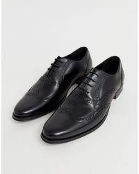 ASOS Oxford Brogue Shoes - Black