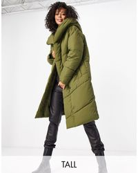 Noisy May - Пальто-пуховик Цвета Хаки -зеленый - Lyst