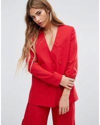 Fashion Union - Asymmetric Blazer Co-ord - Lyst