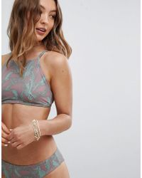 RVCA - Palmer Crop Bikini Top - Lyst