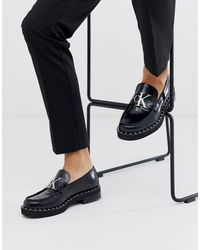 Calvin Klein Norwood Chunky Logo Loafers - Black
