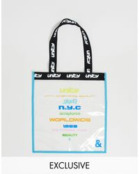 ASOS X Glaad& Unisex Clear Tote Bag With Unity Tour Print - Black