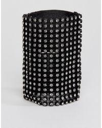 Monki | Diamante Wide Bracelet | Lyst