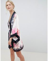 Ted Baker - B By Painted Posey Kimono - Lyst
