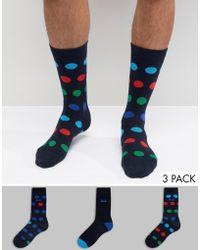 Pringle of Scotland Dot Socks In Navy - Blue
