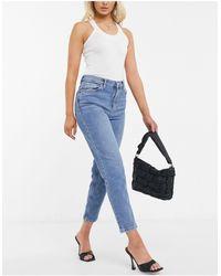Mango Mom jeans blu slavato
