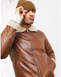 Jack & Jones Светло-коричневая Куртка Авиатор Originals-коричневый Цвет