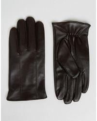 Barneys Originals - Gants en cuir - Lyst