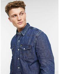 Wrangler - Темно-синяя Джинсовая Рубашка В Стиле Вестерн -темно-синий - Lyst