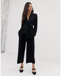 French Connection Wide Leg Trouser - Black