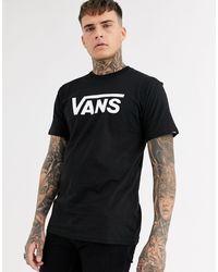 Vans Classic - T-shirt nera con logo - Nero