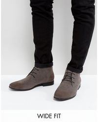 ASOS Wide Fit Chukka Boots - Gray