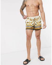 SIKSILK Co-ord Swim Shorts - White