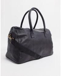 ASOS Leather Holdall Bag - Black