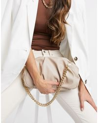 ASOS Oversized Ruched Clutch - Natural