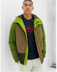 Barbour Chaqueta impermeable verde con capucha Scout