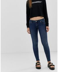 Cheap Monday Second Skin Low Rise Skinny Jeans - Blue