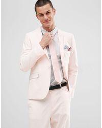 ASOS Skinny Bruiloftscolbert - Roze