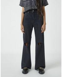 Pull&Bear 90's Wide Leg Jeans - Black