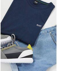 BOSS Athleisure Camiseta azul marino con logo por delante y por detrás Athleisure