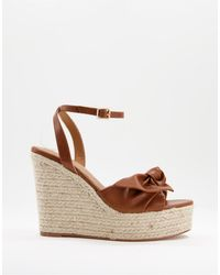 ASOS Tier Bow Espadrille Wedges - Brown