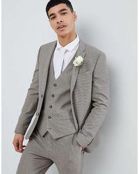 River Island Super Skinny Suit Jacket - Grey